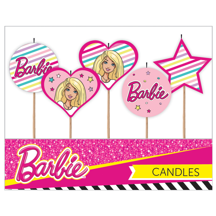 E3203-Barbie-5pk-Candles